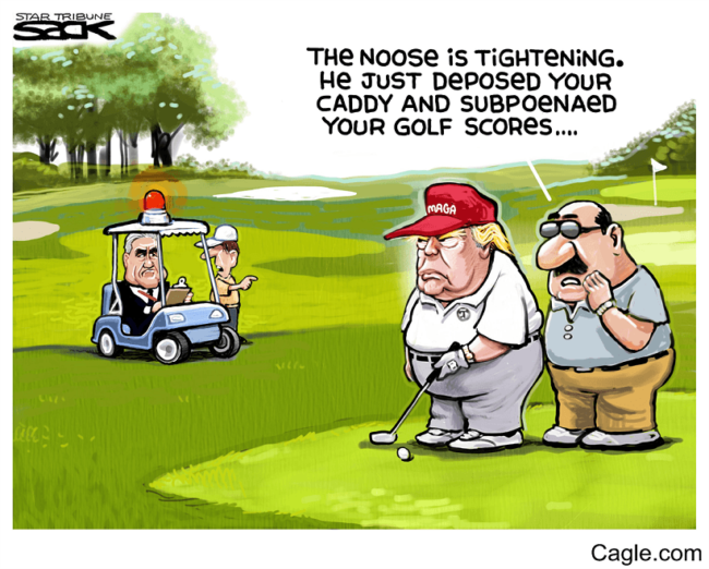 donald trump golf scores fbi political cartoons