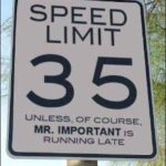 funny speed limit sign