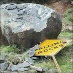funny sign falling rocks