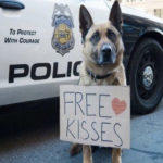 police dog free kisses