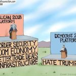 republican platform democratic platform political cartoon