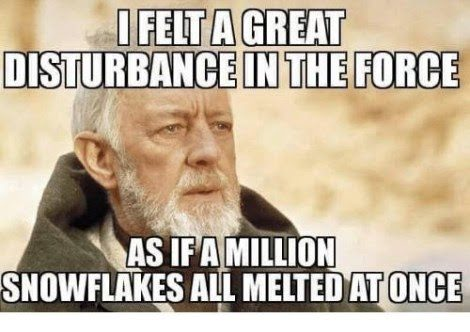 obi wan as if a million snowflakes all melted at once meme