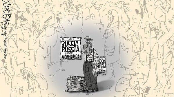 russia news liberal media political cartoon