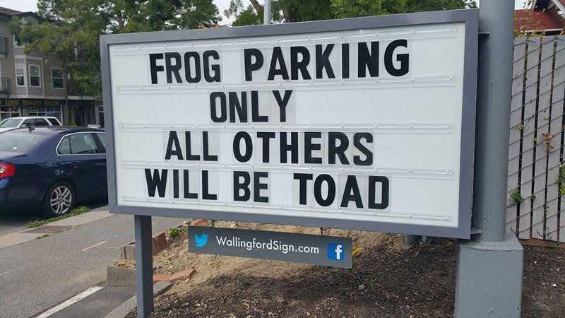 Funny Wallingford Sign