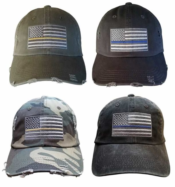 american flag hat distressed