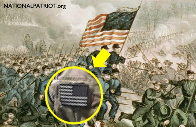 why american flags are worn backward