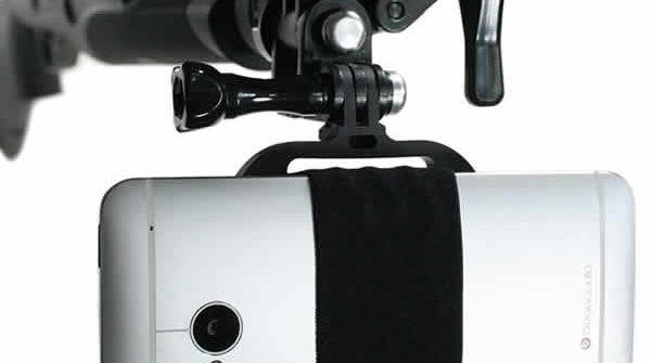 mount your smartphone onto rifle, bow, fishing rod, shotgun