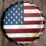 american flag bottle cap wall decoration