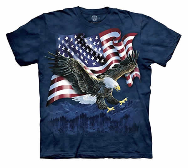 awesome bald eagle american flag t-shirt