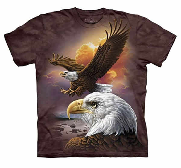 bald eagle sunset t-shirt