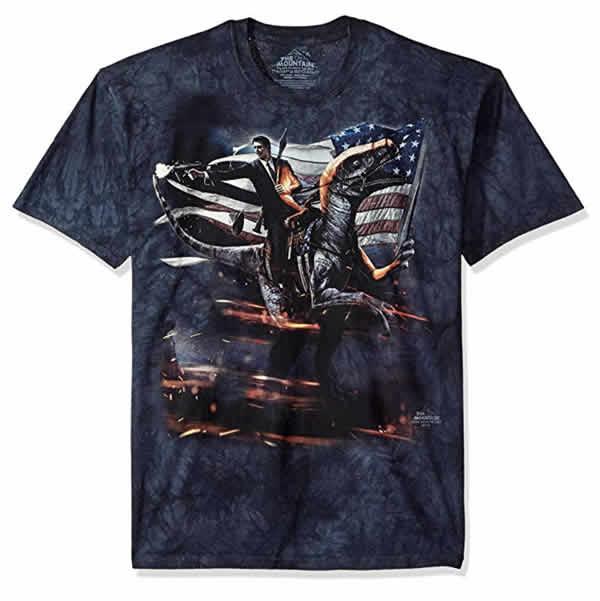 awesome ronald reagan velociraptor t-shirt