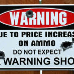 funny sign do not expect a warning shot