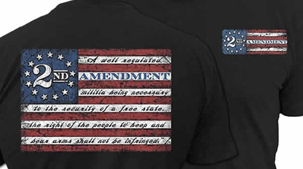 2nd amendment t-shirt gun rights gift