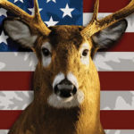 american flag white tail deer blanket
