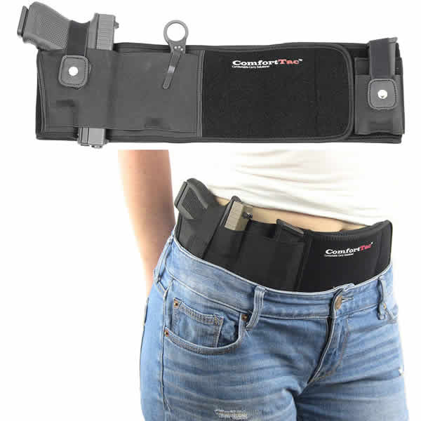 comfortac concealed carry holster 380, 9mm, 40 auto, 45 ACP, 38 special, 357, and 10mm