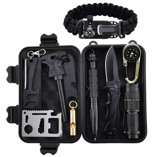 emergency survival kit with survival bracelet