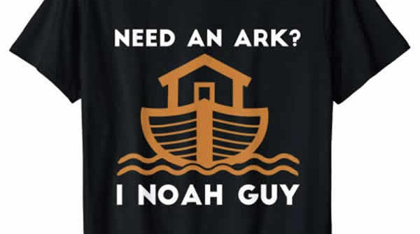funny christian t-shirt need an ark I noah guy