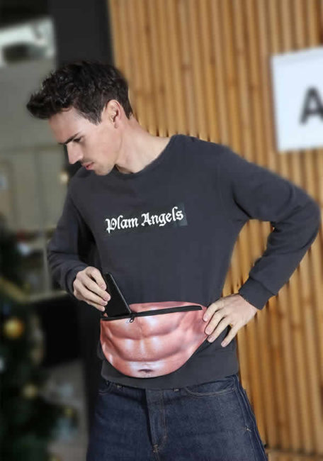 funny abs fanny pack