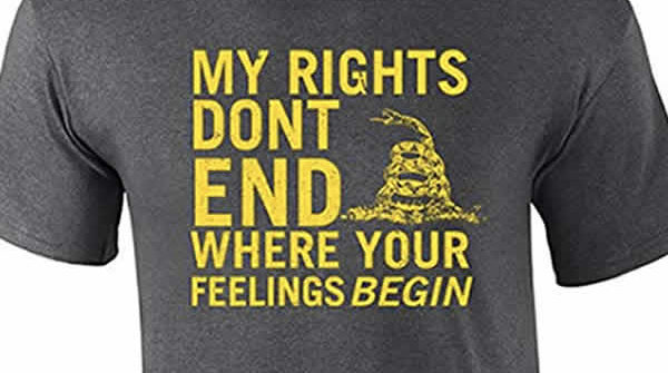 my rights don't end where your feelings begin t-shirt 2nd amendment gun rights t-shirt