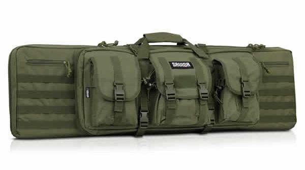 Savior Equipment American Classic Tactical Double Long Rifle Pistol Gun Bag Firearm Transportation Case w/Backpack