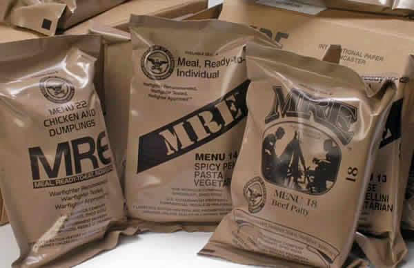 MRE meals ready to eat u.s. surplus