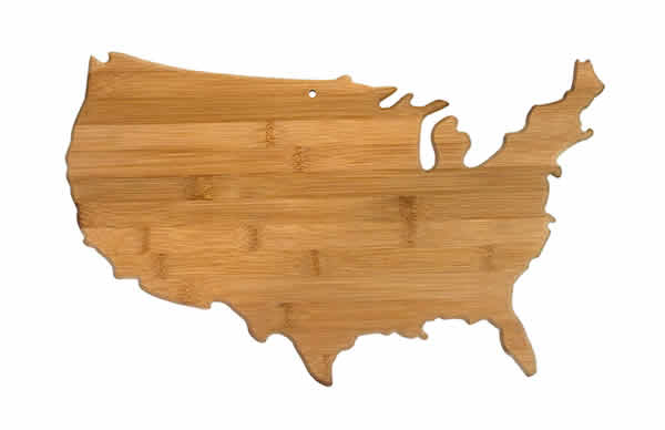 usa bamboo cutting board unique gift