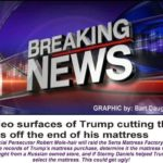 breaking news trump cuts tags off mattress funny meme