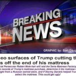 breaking news trump cuts tags off mattress funny meme