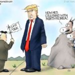 trump kim jong un political cartoon