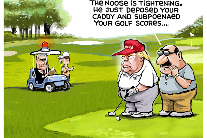 donald trump golf scores fbi political cartoons