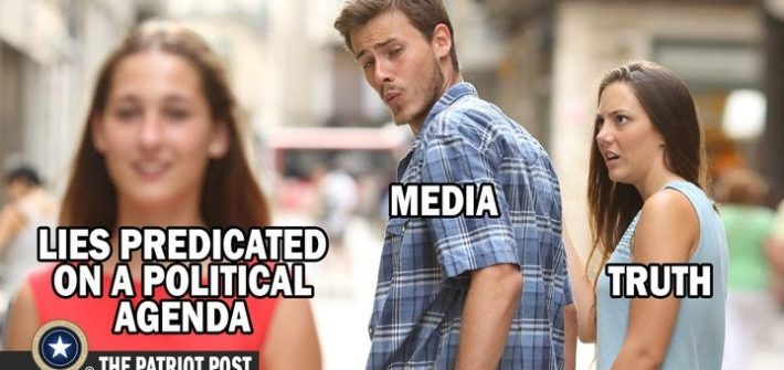 liberal media lies meme
