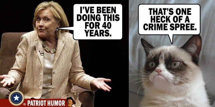 hillary clinton crime spree meme