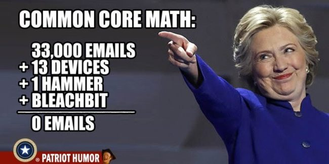 common core math hillary's emails