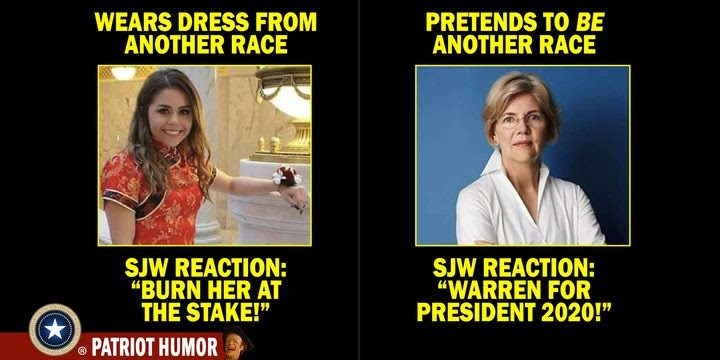 elizabeth warren native american meme