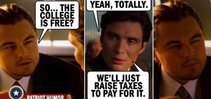 raise taxes free college