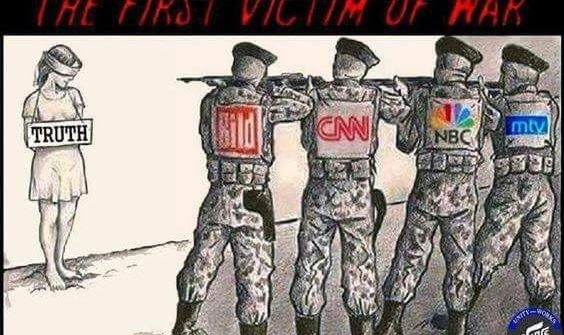 truth is the first victim in war meme