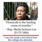 sheila jackson lee homicide is the leading cause of murder