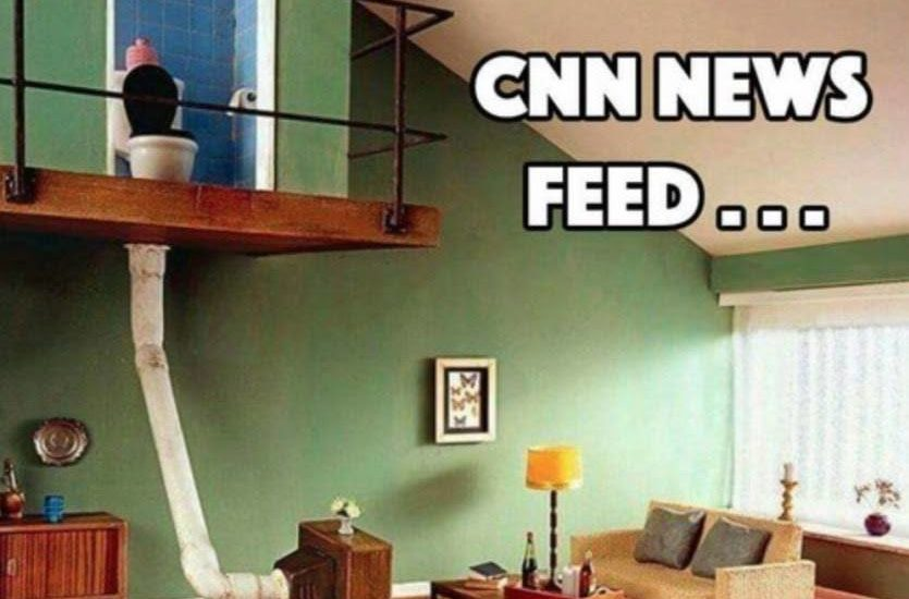 cnn news feed funny meme toilet