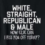 funny white straight republican male t-shirt