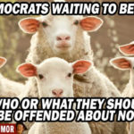 political humor liberal media democrats waiting to be offended