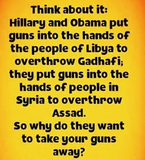 hillary and obama put guns in the hands of the people of libya