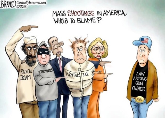 mass shootings who's to blame