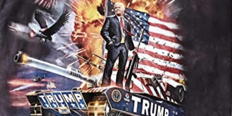 ultimate trump t-shirt trump riding a tank