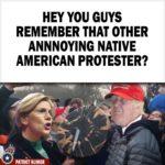 Warren Native American protester