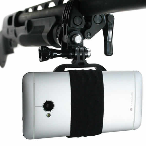 mount your smartphone onto rifle, bow, fishing rod, shotgun