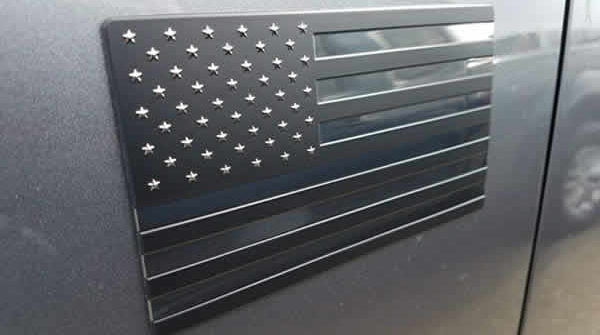 american flag auto decal