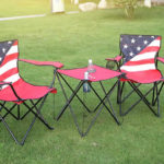 american flag tailgating set