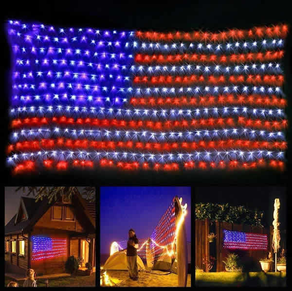 american flag LED lights