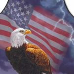 american flag bald eagle apron