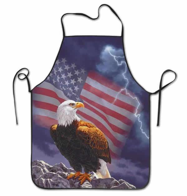 american flag bald eagle apron